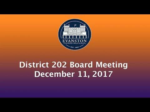 School Board Meeting 12/11/17