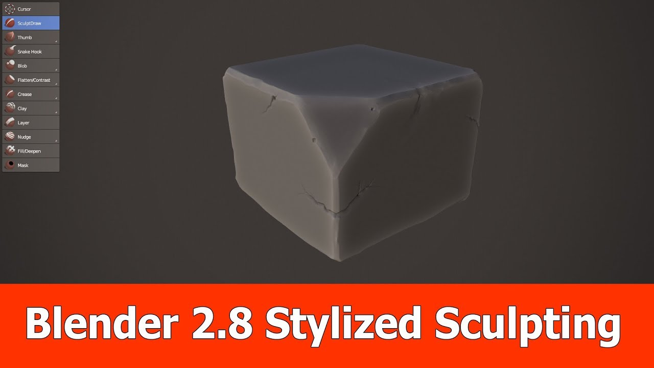 Blender 2 8 Stylized Sculpting