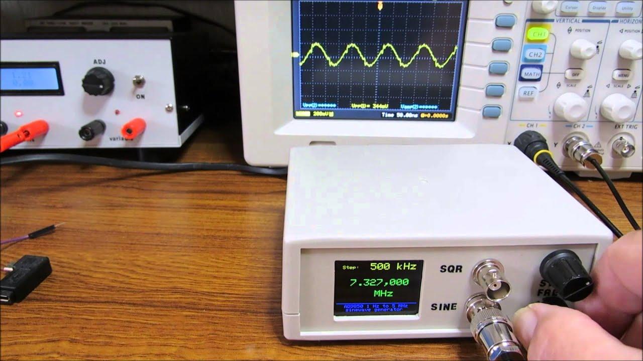 Ad9850 Waveform Generator Funnydog Tv