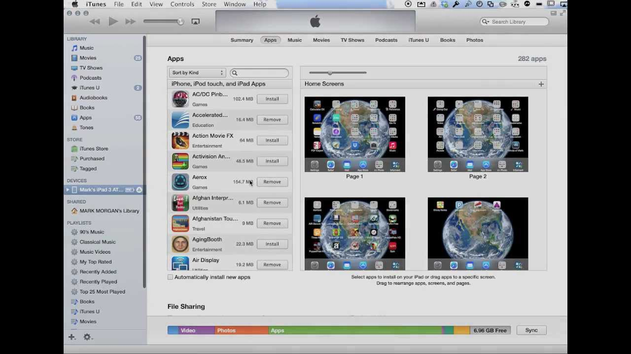 Updating applications in itunes