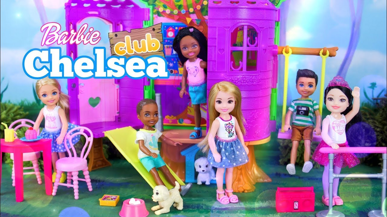 Unbox Daily Barbie Chelsea Club Treehouse Plus Club Chelsea Dolls Combo Packs Youtube