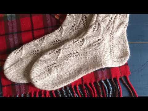 Носочки спицами «Листики листочки»// Обзор// Вязание из Краснодара