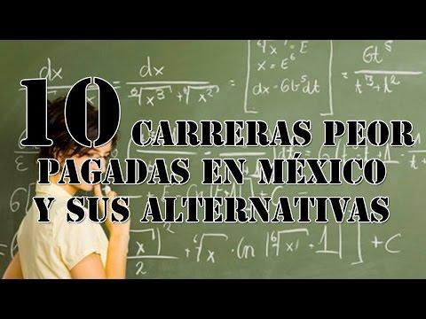"""¿Qué carrera debería estudiar? Top 10 """"Las carreras peor pagadas en México"""""""