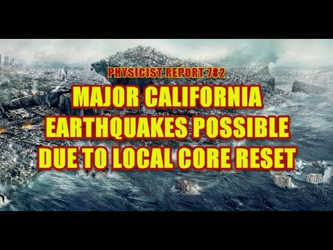 782: Major California earthquakes due to local core reset possible