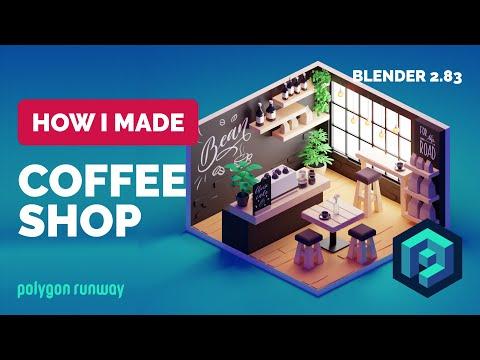 coffee-shop-in-blender-2.83---3d-modeling-process