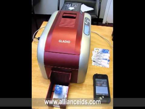 The New Gladio ID Card Printer - YouTube