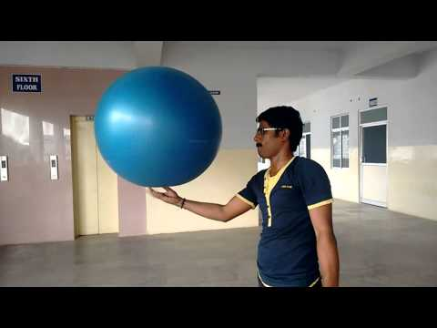 Longest time to Maintain & spin a 85 CM Ball in One Hand (22.3 mins)