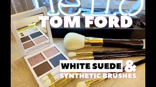 REVIEW amp DEMO Tom Ford White Suede Palette amp New Synthetic Brushes