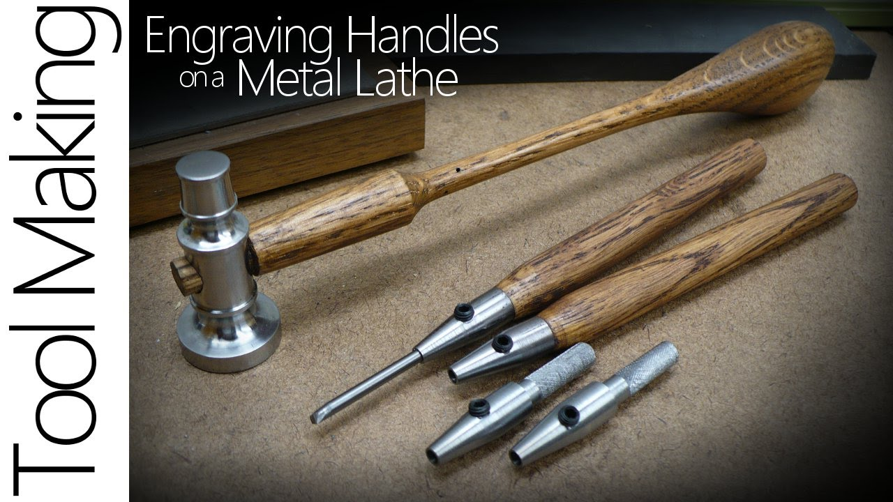 making hand engraving tools on a metal lathe the handle youtube