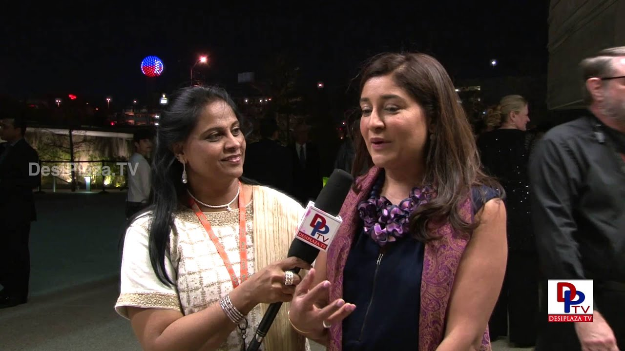 Ms.Assia speaking to Desiplaza TV at South Asian Film Festival in Dallas.