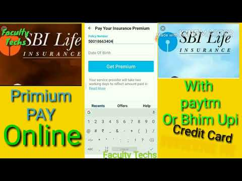 SBI Life Insurance Premium Online Pay With Credit,debit Card In Paytm Hindi Me