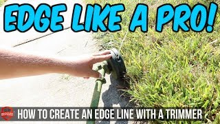 How To Edge Like A Pro With a String Trimmer Vs Using A Stick Edger - Lawn Care Vlog Walk Through thumbnail