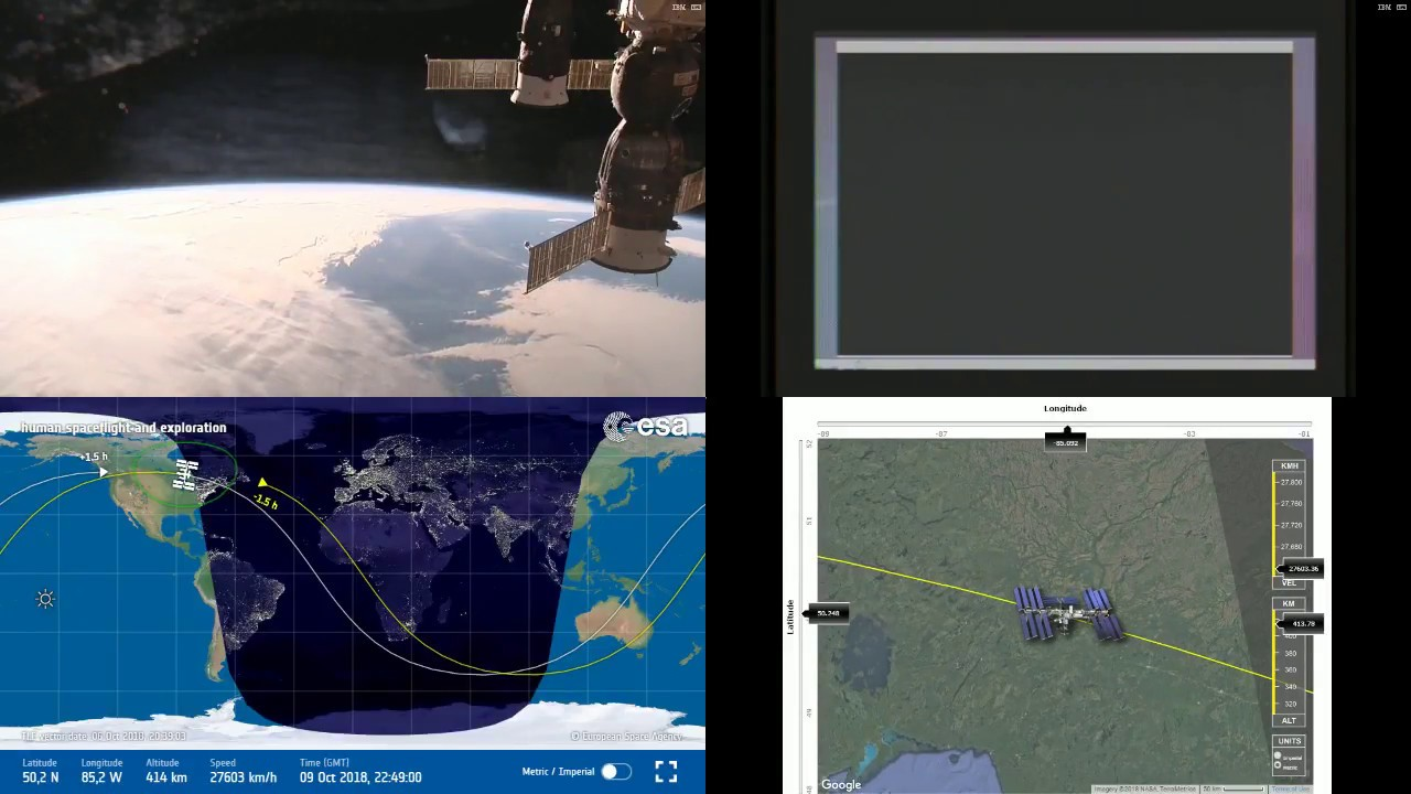 Evening north america nasaesa iss live space station with map evening north america nasaesa iss live space station with map 200 2018 10 09 gumiabroncs Images