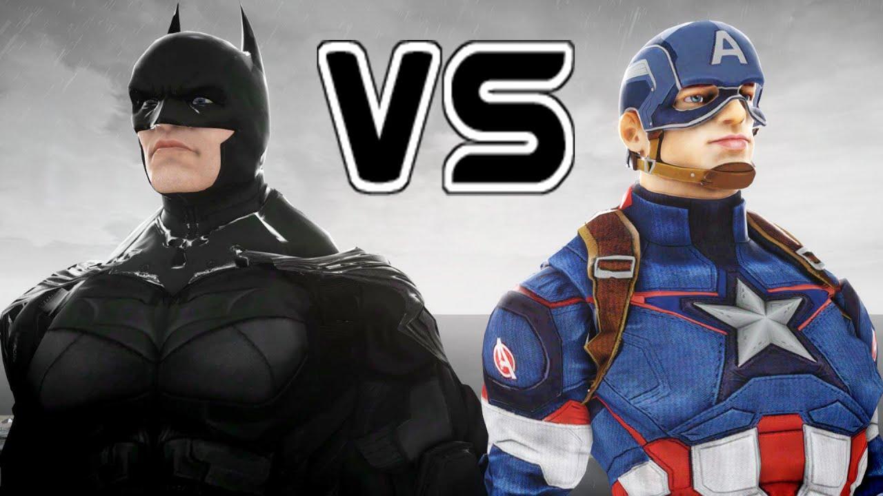 batman vs captain america epic battle youtube