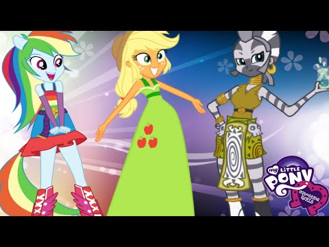 My Little Pony Equestria Girls Rainbow Rocks - Rainbow Dash Applejack Zecora Dress Up Full Game