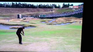 Tiger Woods Cold Tops 3 Wood at 2015 U.S. Open
