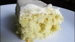 This cake is super moist, light and perfect for Summer. Ingredients: 1 box Duncan Hines French vanilla cake mix 1 stick butter, melted 3 large eggs 1 can (20 oz.)