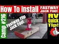 Installing a Fastaway Jack Foot