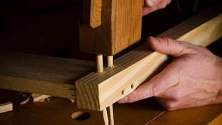 How to Make Pegs for Drawboring Mortise & Tenon Part 11 of Build a Dovetail Desk with Hand Tools