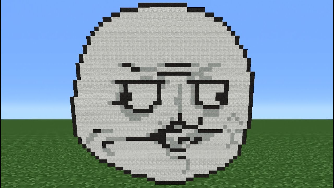Minecraft Tutorial: How To Make A Me Gusta Face (Meme ...