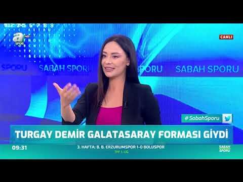 Turgay Demir Galatasaray Forması Giydi / A Spor / Sabah Sporu / 02.09.2019