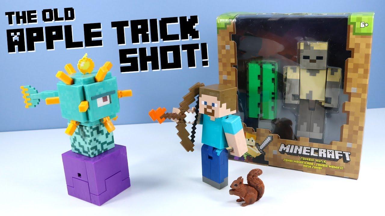Minecraft Survival Mode Guardian Husk Steve with Bow Action Figures Mattel