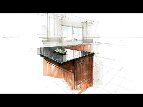 Tutorial - Hand Rendering, Interior, 160416 Kitchen Detail