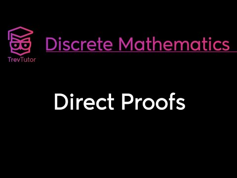 [Discrete Math 1] Direct Proofs