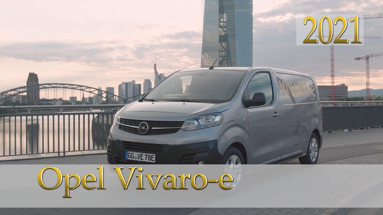 2021 opel vivaro-e van exterior interior driving - youtube