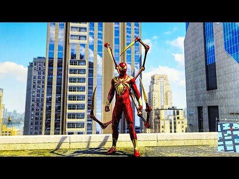 SPIDER-MAN PS4 Iron Spider Armour Free Roam Gameplay (SPIDERMAN PS4 Turf Wars DLC)