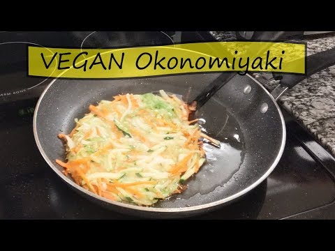 VEGAN Okonomiyaki (Japanese Savory Pancake) | Cooking With Lana