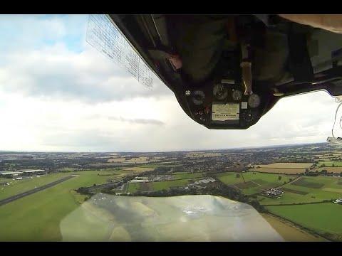 Glider aerobatics over RAF Cosford.MDM-1 Fox