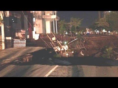 Saksi Ungkap Detik-detik Jalan Gubeng Amblas, Warga Berteriak Dan Berlarian Hingga Sempat Kira Gempa