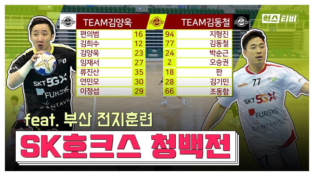 [재업로드]치열했던 SK호크스 자체 청백전 경기(feat. 부산 전지훈련)