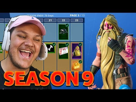 Bot Reacts To Fortnite Season 9 Battle Pass - Buying ALL 100 Tiers!