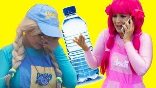 يويو ودودي وشرب المياة اثناء اللعب - yoyo and dodi drinking water while playing