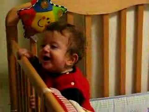 Rotem One Year Old: Bed Is So Funny!