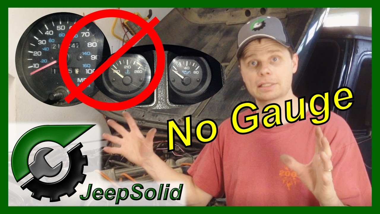 Jeep Gauges Not Working Youtube 2000 Wrangler Alternator Wiring