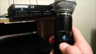 Older Shure LX Wireless Microphone System