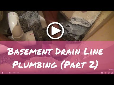 How to Plumb Basement Bathroom Drain Lines (Part 2)