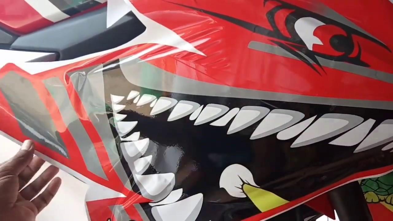 HOW TO PAIR THE STICKER DECAL HONDA CBR 150 BABY SHARK