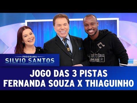 Jogo das 3 Pistas com Fernanda Souza e Thiaguinho | Programa Silvio Santos (23/07/17)