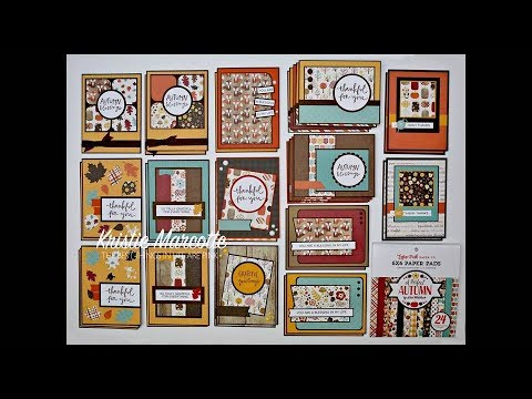 Echo Park's A Perfect Autumn - 35 cards from one 6x6 paper p
