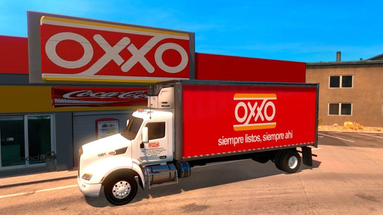 2017 Peterbilt 579 >> Surtiendo el OXXO de Guanaceví, Durango, México | American Truck Peterbilt 579 - YouTube