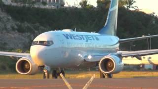 St.Maarten MIX - 5 WestJet Boeing 737 Landings, Takeoffs, Jetblasts  @ SXM [HD]