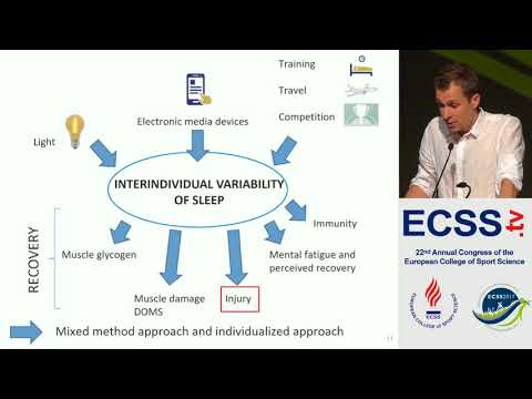 Sleep and Recovery in Elite Athletes A Good Example for Large Interindividual.. Dr. Nedelec