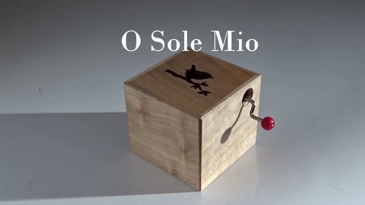 O sole mio wooden music box youtube