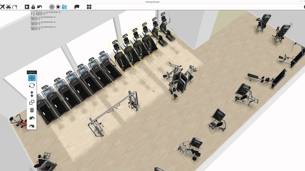 Ecdesign 4 1 3d room and floor planning software youtube for Gym design software