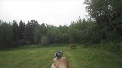 .40 Caliber Taurus Pistol Target Shooting