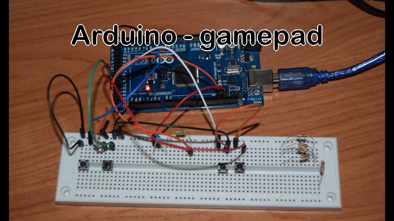 Arduino mega prosty joystick gamepad youtube